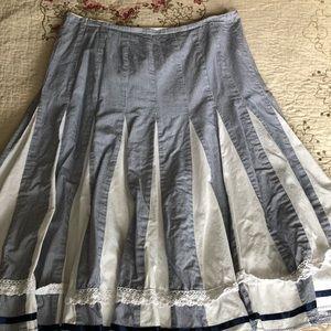 Dresses & Skirts - Blue & white pinstripe skirt
